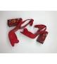 Босоножки женские Dolce&Gabbana (Дольче Габбана) замшевые с заклепками Red