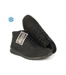Ботинки зимние Ecco Biom (Экко Биом) Winter Black Nubuck