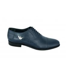 Туфли мужские Emporio Armani (Эмпорио Армани) Blue + Belt (Ремень)