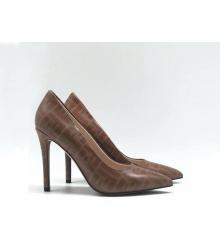 Женские туфли-лодочка Fendi (Фенди) Colibrì кожаные летние на высоком каблуке Brown