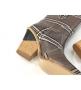 Женские казаки Fendi (Фенди) FF кожаные каблук скошенный Gray