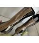 Ботильоны женские Fendi (Фенди) кожа лаковая каблук средней длины на молнии Black