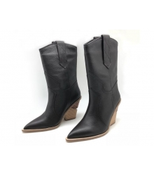Женские сапоги казаки Fendi (Фенди) кожаные на каблуке казаки Brown