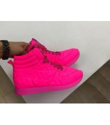 Женские кеды Fendi (Фенди) кожаные Pink