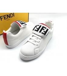 Женские кеды Fendi (Фенди) летние комбинированные White/Red