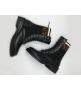 Ботинки женские Fendi (Фенди) осенние кожаные на шнуровке Black