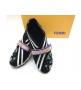 Женские кроссовки Fendi (Фенди) текстиль на липучке Black