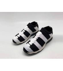 Женские кроссовки Fendi (Фенди) текстиль на резинке вязаные Black/White