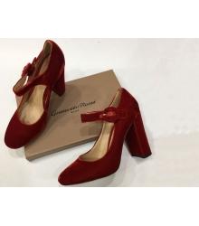 Женские туфли Gianvito Rossi (Джанвито Росси) Бархат Red