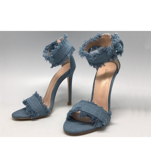Босоножки женские Gianvito Rossi (Джанвито Росси) из денима Blue