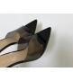 Босоножки женские Gianvito Rossi (Джанвито Росси) кожаные каблук шпилька Black