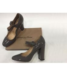 Женские туфли Gianvito Rossi (Джанвито Росси) лакированные Dark Grey