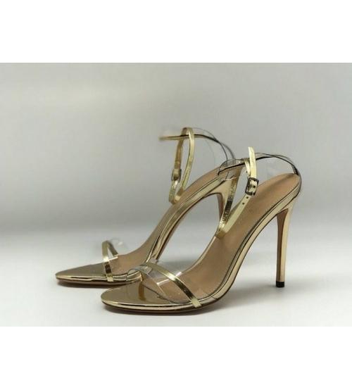 Женские босоножки Gianvito Rossi (Джанвито Росси) Marie кожаные Gold