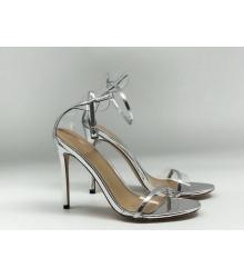 Женские босоножки Gianvito Rossi (Джанвито Росси) Marie кожаные Silver