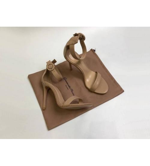 Босоножки женские Gianvito Rossi (Джанвито Росси) Portofino кожаные каблук шпилька Beige