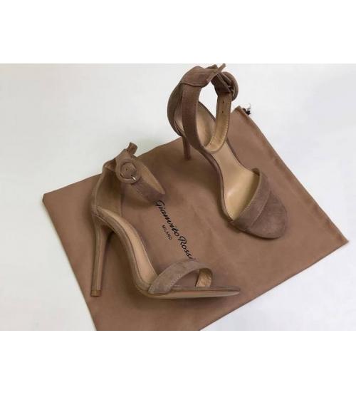 Босоножки женские Gianvito Rossi (Джанвито Росси) Portofino кожаные каблук шпилька Brown