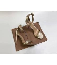 Босоножки женские Gianvito Rossi (Джанвито Росси) Portofino кожаные каблук шпилька Gold