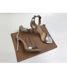 Босоножки женские Gianvito Rossi (Джанвито Росси) Portofino кожаные каблук шпилька Silver