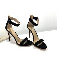 Босоножки женские Gianvito Rossi (Джанвито Росси) Portofino летние кожаные каблук шпилька Black