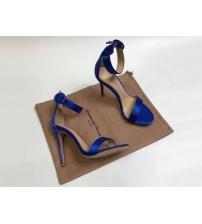 Босоножки женские Gianvito Rossi (Джанвито Росси) Portofino текстиль каблук шпилька Blue
