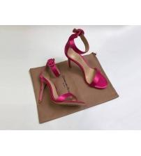 Босоножки женские Gianvito Rossi (Джанвито Росси) Portofino текстиль каблук шпилька Crimson