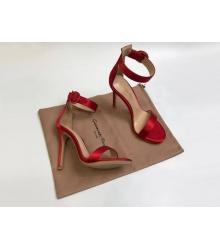 Босоножки женские Gianvito Rossi (Джанвито Росси) Portofino текстиль каблук шпилька Red