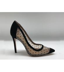 Женские туфли Gianvito Rossi (Джанвито Росси) сетка каблук шпилька Beige