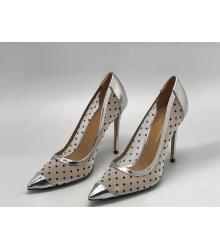 Женские туфли Gianvito Rossi (Джанвито Росси) текстиль сетка Silver