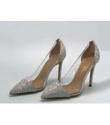 Женские туфли Gianvito Rossi (Джанвито Росси) текстиль Silver