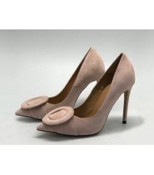 Женские туфли Gianvito Rossi (Джанвито Росси) замшевые каблук шпилька Beige