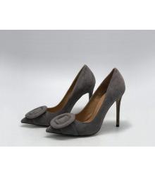 Женские туфли Gianvito Rossi (Джанвито Росси) замшевые каблук шпилька Gray
