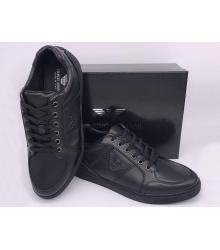 Мужские кроссовки Giorgio Armani (Джорджио Армани) кожаные Black