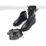 Ботинки женские Giuseppe Zanotti (Дзужеппе Занотти) кожаные на молнии Black