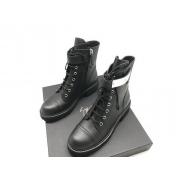 Женские ботинки Giuseppe Zanotti (Дзужеппе Занотти) кожаные на молнии Black