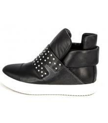 Ботинки женские Giuseppe Zanotti (Дзужеппе Занотти) High Black/White