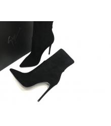 Ботильоны женские Giuseppe Zanotti (Джузеппе Занотти) замшевые Black