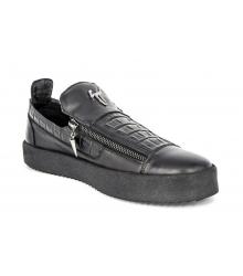 Осенние ботинки Giuseppe Zanotti Black Alligator Touth