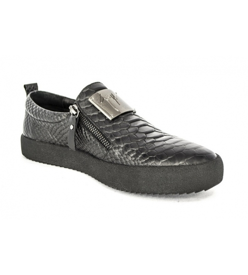 Осенние ботинки Giuseppe Zanotti Black Monolith Alligator Skin