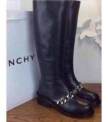 Женские сапоги Givenchy (Живанши) High Black/Silver