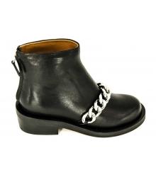 Ботинки женские Givenchy (Живанши) Black/Silver