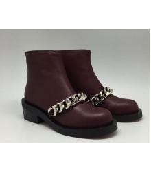 Ботинки женские Givenchy (Живанши) Bordo