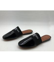 Женские мюли Givenchy (Живанши) кожа лаковая Black