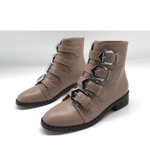 Женские ботинки Givenchy (Живанши) кожаные Beige
