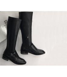 Сапоги женские Givenchy (Живанши) кожаные Black