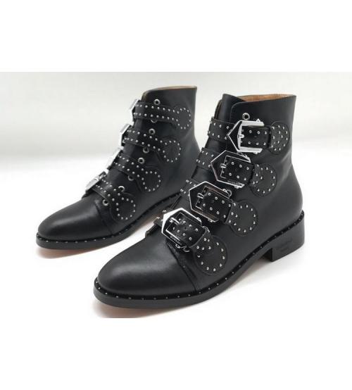 Женские ботинки Givenchy (Живанши) кожаные Black