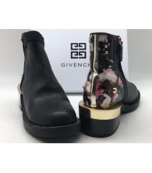 Женские полусапоги Givenchy (Живанши) кожаные Black