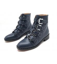 Женские ботинки Givenchy (Живанши) кожаные Blue