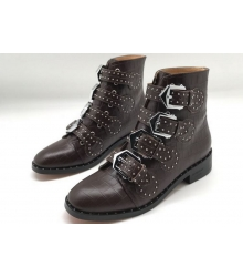 Женские ботинки Givenchy (Живанши) кожаные Brown