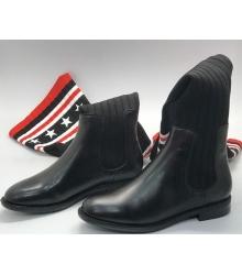 Сапоги-ботфорты женские Givenchy (Живанши) кожаные High Black