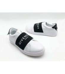 Кроссовки мужские Givenchy (Живанши) кожаные с резинкой White/Black